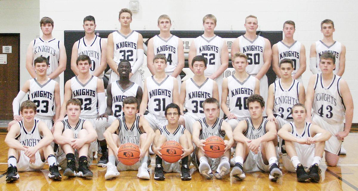 2017-18 Elmwood-Murdock boys basketball team photo