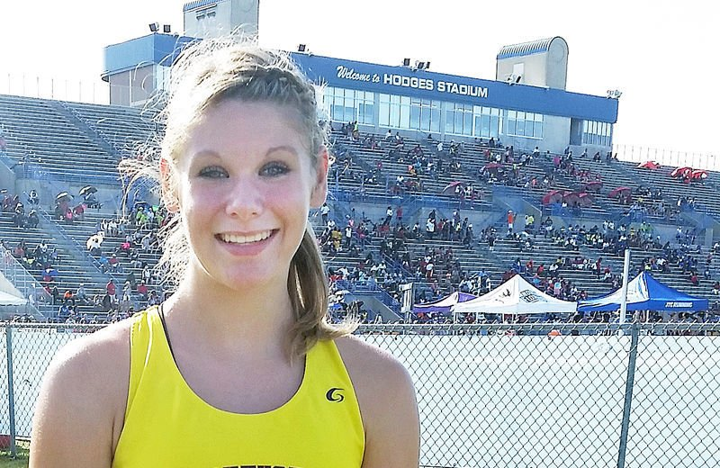 Haley Miller in National Junior Olympic Track and Field Championships 1