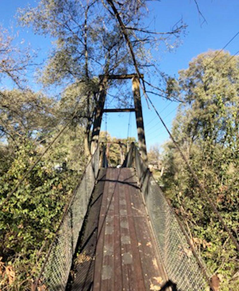 swinging bridge photo 1