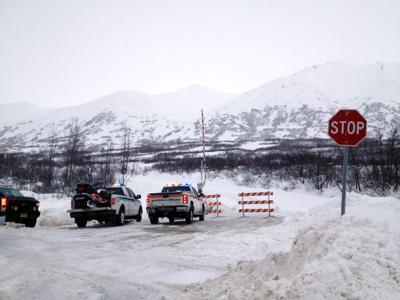 Hatcher Pass Road closed