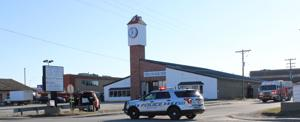 The Clock Tower and surrounding block closed off Friday night following report of a suspicious leak
