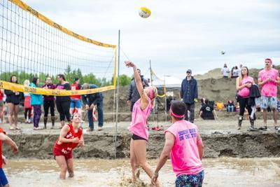 Big Lake mud volleyball