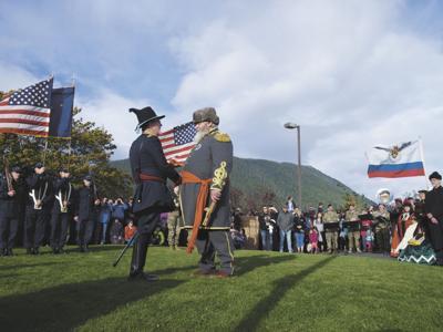 Russia-Alaska transfer reenactment