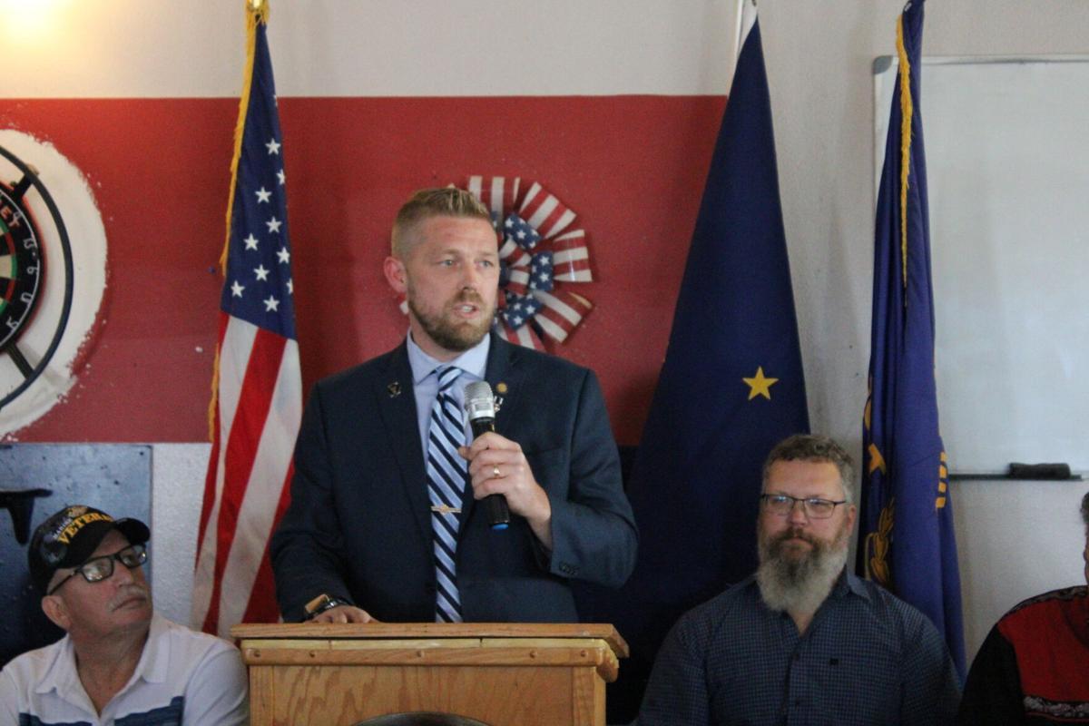 Senator Josh Revak spoke at the signing of SB 40 in Wasilla on Saturday
