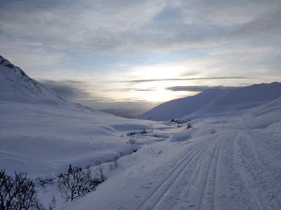 HEADLAMP Nordic skiing Hatcher Pass