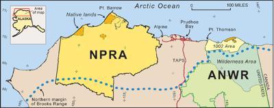 NRP-A, ANWR map