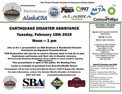 Wasilla Chamber of Commerce, February 17, 2019