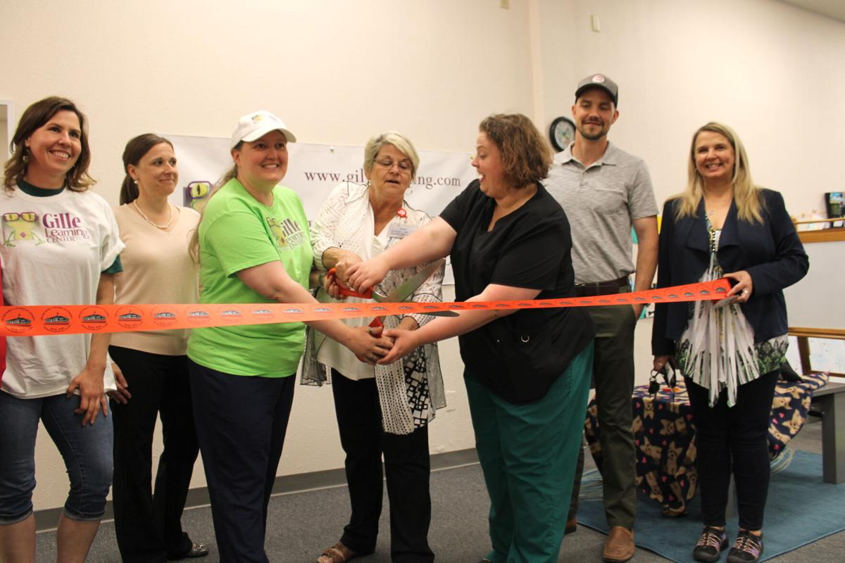 Gille Learning Center ribbon cutting