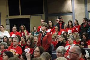 Educators pack school board meeting
