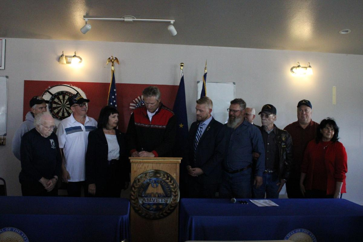 Governor Dunleavy signed SB 40 into law in Wasilla on Saturday