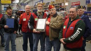 American Legion Post 35 thanks Wasilla Lowe's employees for donation