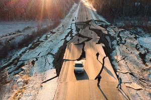 Unforgettable ride: Man driving on stretch of Vine Road as its damaged during Nov. 30 earthquake tells his side of the story