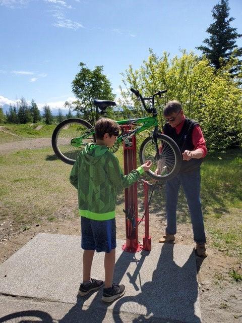 Wasilla bike fixit station