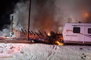 Residential fire on East Frances Lane causes big commotion, but no injuries