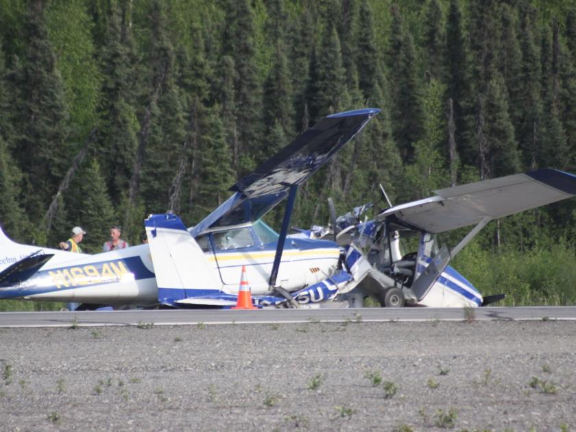 One person injured in mid-air crash   Local News Stories