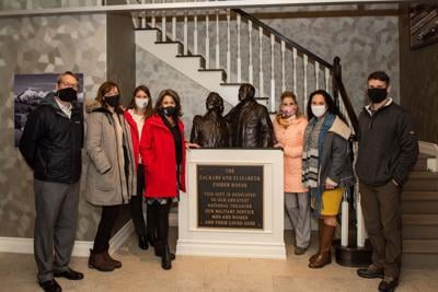 Spouse of COMPACAF visits Fisher House II