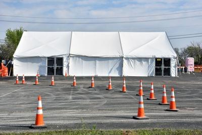 Triage tent set up: NTMC to have drive-thru coronavirus testing