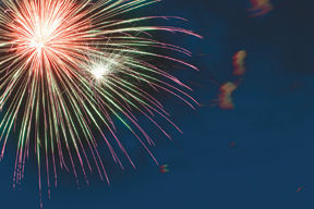 Fireworks at Leonard Park Tuesday