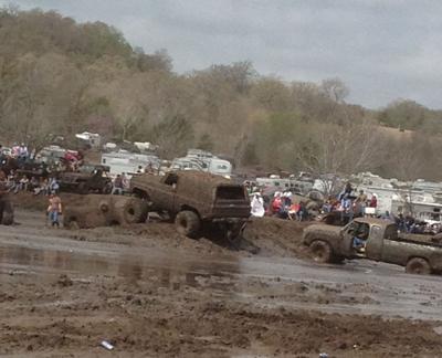Muddy trucks