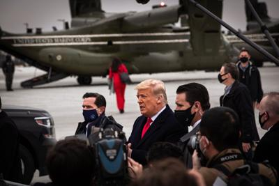 In his first public appearance since Capitol riot, Trump visits Texas border to tout wall construction
