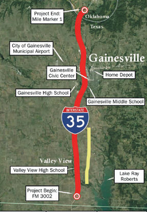 Proposed I-35 expansion