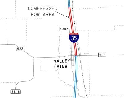 I-35 expansion map
