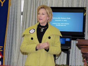 GEDC director speaks at Rotary Club meeting