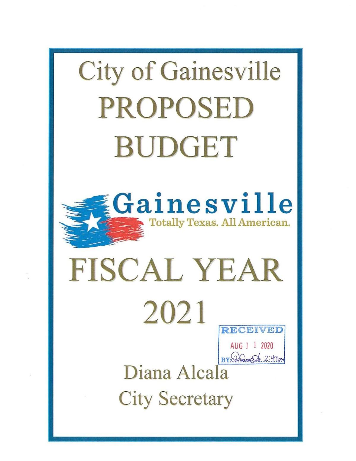 PDF: Gainesville proposed budget for fiscal year 2021