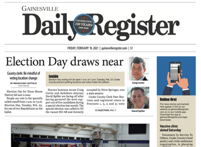 Friday, Feb. 19, 2021 print edition preview