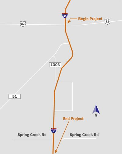 I-35 Map Graphic
