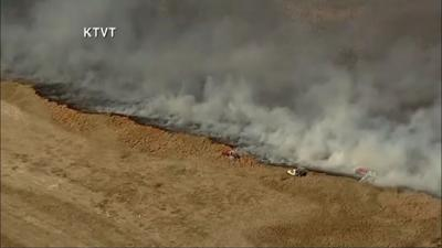 Wildfire shuts down I-20/I-30 west of Fort Worth