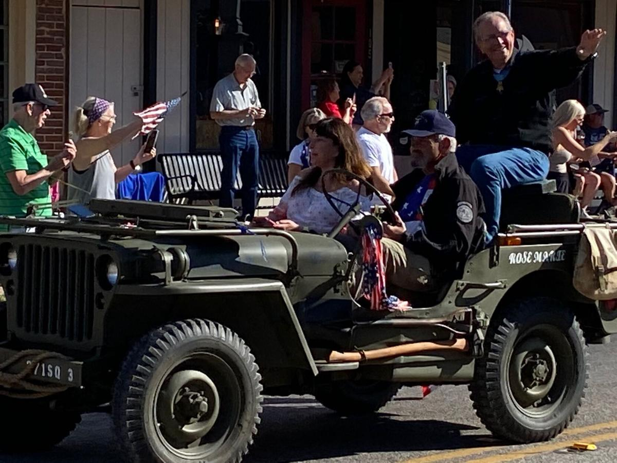 2021 Medal of Honor parade in downtown Gainesville