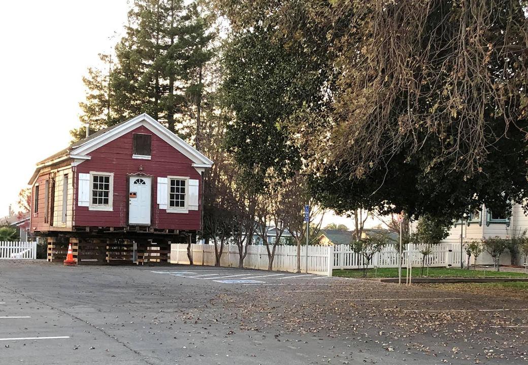 School House sits on blocks