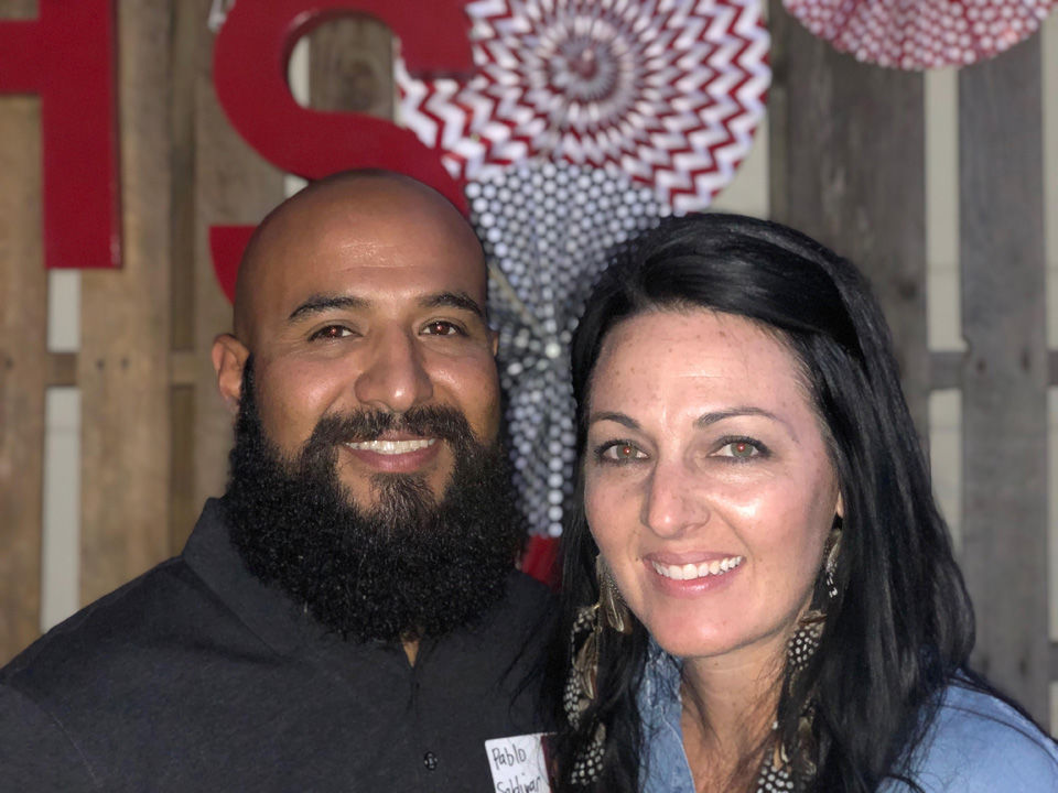 Saldivar and wife Erin