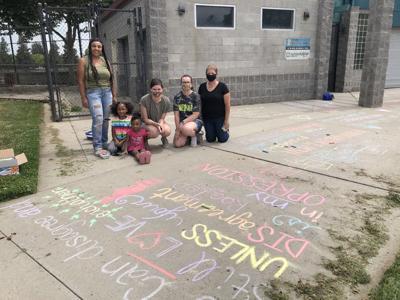 Chalk artists gather