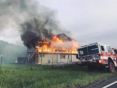 Emida apartment fire displaces five families