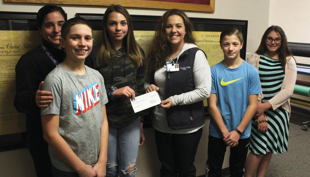 Middle School students raise cash