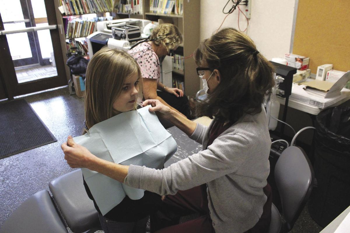 Students receive free dental work