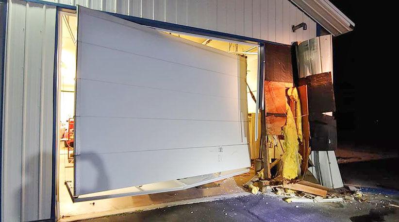O'Gara station damaged by hit-and-run