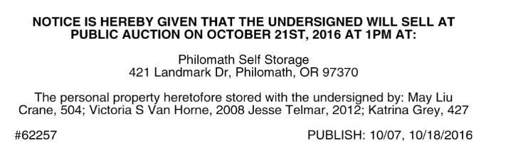 High Quality Download PDF PHILOMATH SELF STORAGE