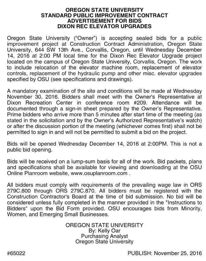 OSU PROCUREMENT & CONSTRUCTION