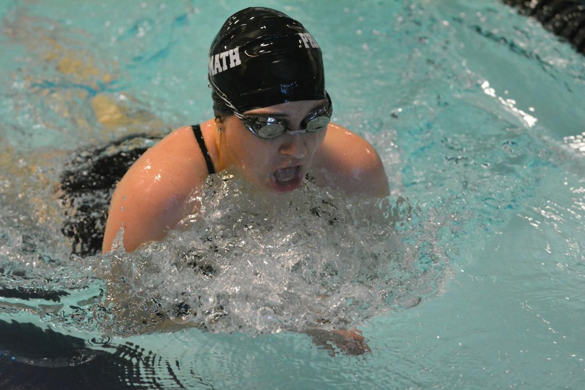 PHS girls swimming: Ophelia Katsikis