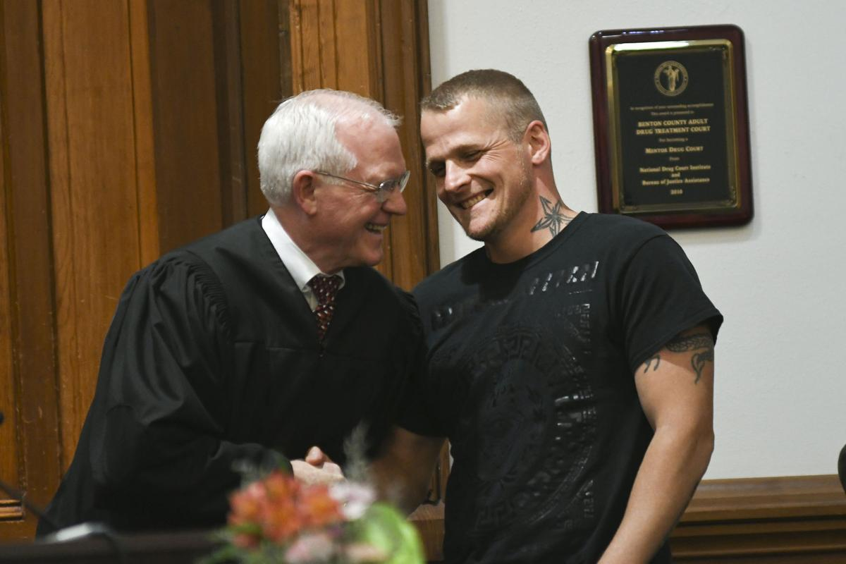 Two graduate from Benton County Drug Treatment Court