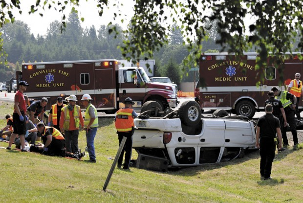 Five people injured in Highway 34 rollover east of Corvallis | Local