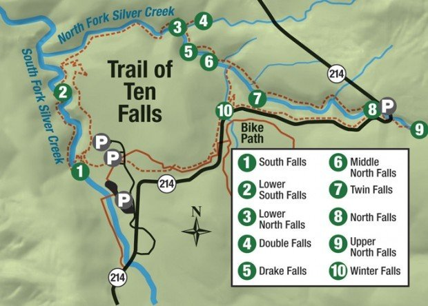 Silver Falls Ohio Map.Hiking Oregon S Stunning Trail Of Ten Falls One Girl Whole World