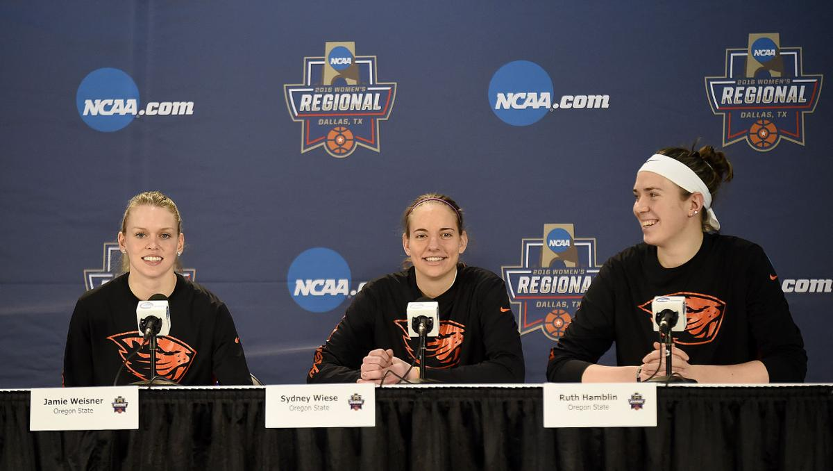 Weisner, Wiese, Hamblin during press conference