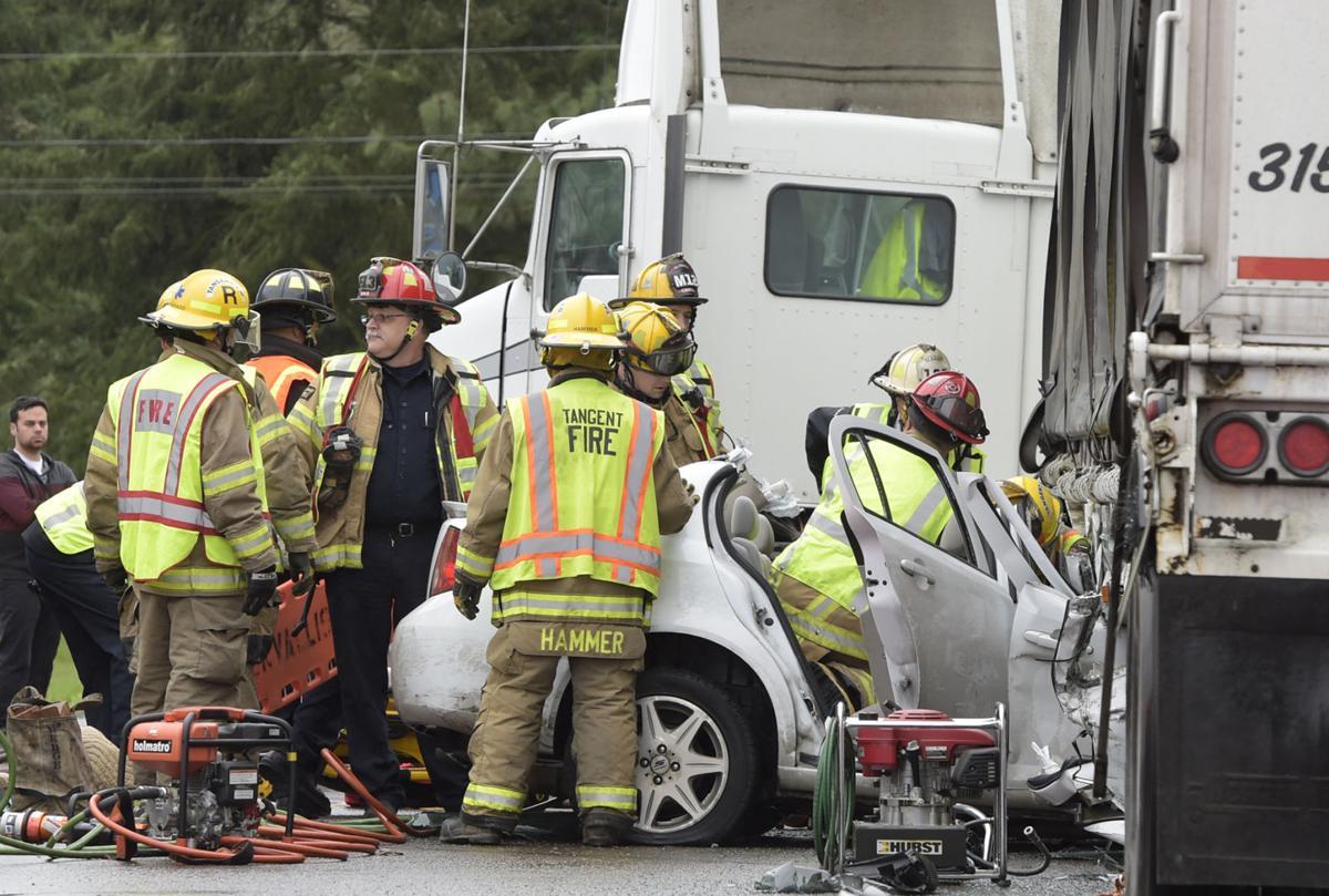 One injured in crash on Highway 34   Local   gazettetimes com