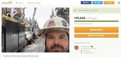 David Schrock's GoFundMe page
