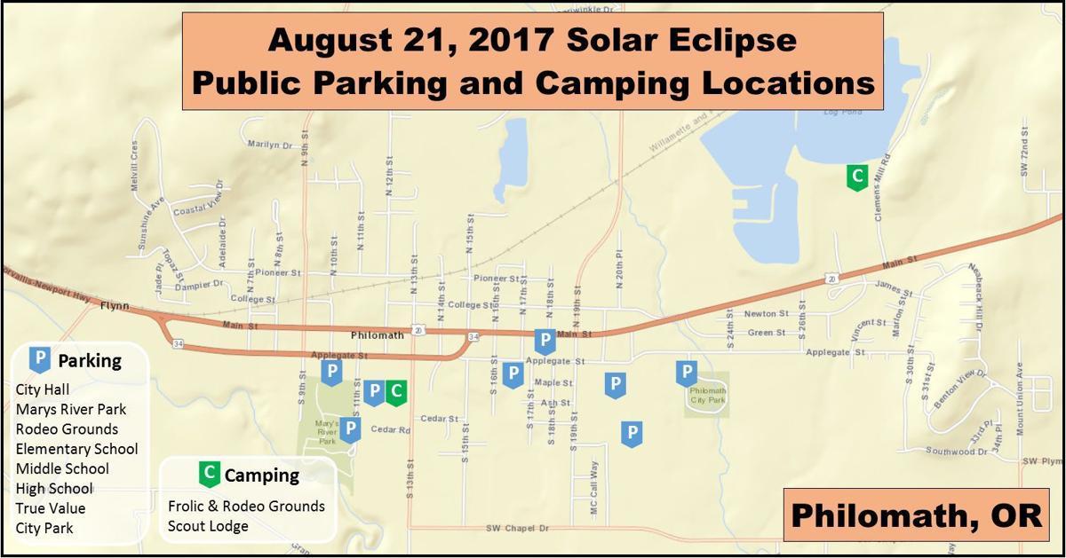 Philomath eclipse map