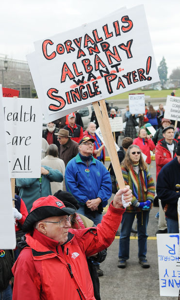 Hundreds rally for single-payer health care